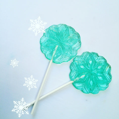 Snowflake Wand Lollipops