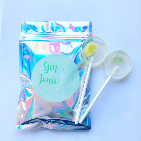 Gin and Tonic sherbet pouch