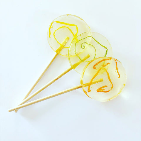 Zesty lollipops