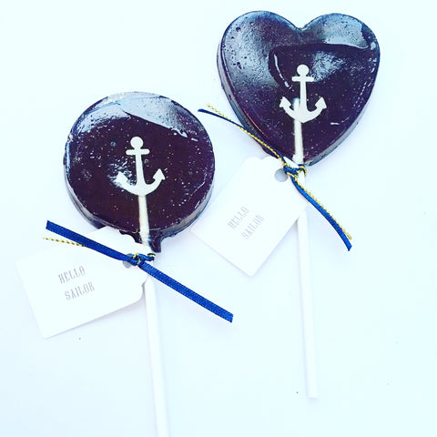 Hello Sailor Nautical Lollipops
