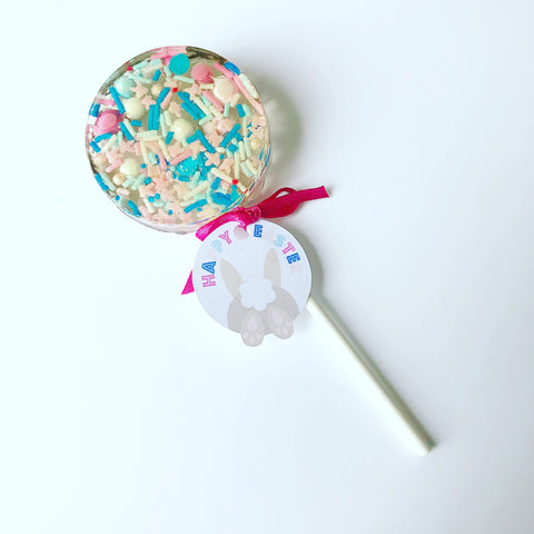 Pink and blue Easter Sprinkle Pop