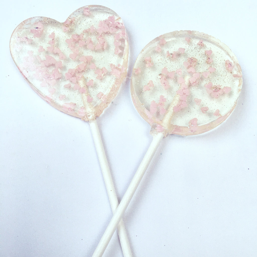 Mini Hearts And Gold Lollipops