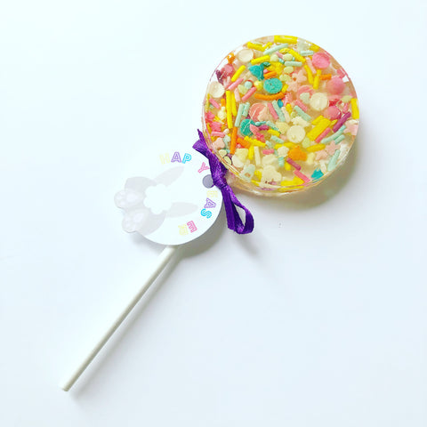 Pink and orange Easter sprinkle pop