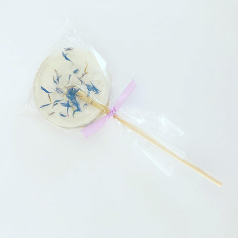 Blue Cornflower Lollipop