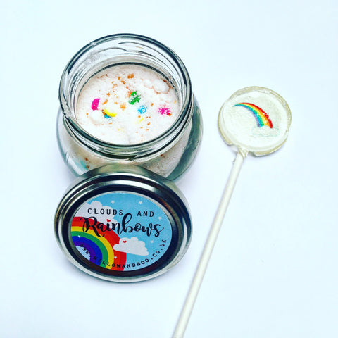 Clouds & Rainbows Sherbet Jar