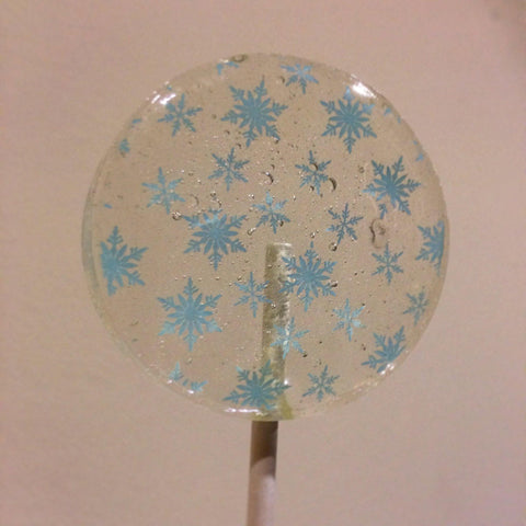blue snowflake lollipop