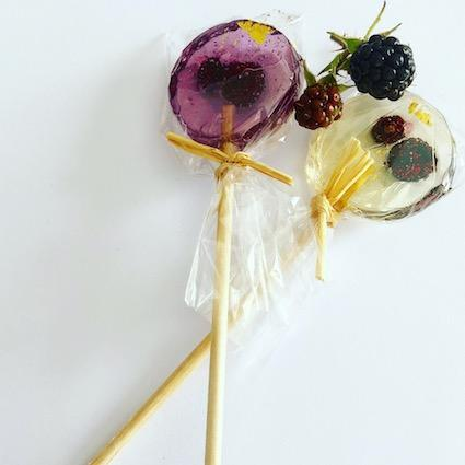 Berry Lollipops