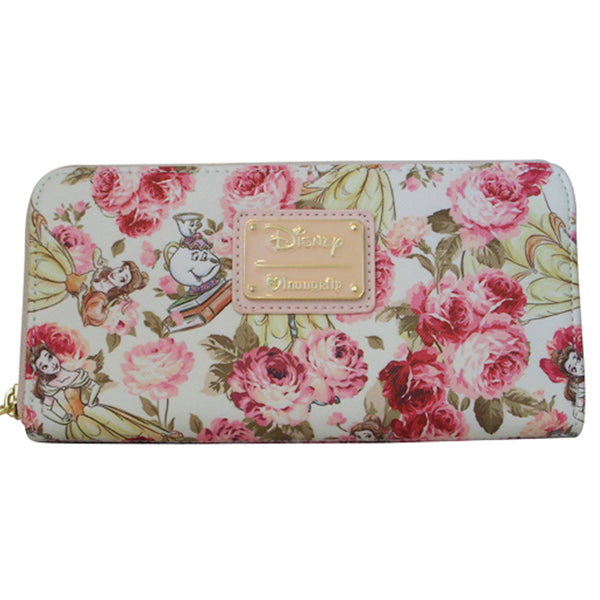 1fe274f11f98 Loungefly Disney Princess Belle Beauty and the Beast Floral Zip Around  Wallet - Belle Fleur Boutique