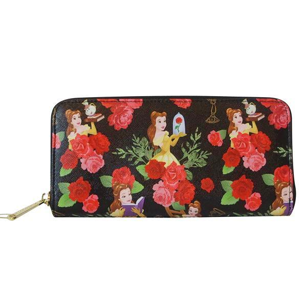 a044c1a16a0e ... Loungefly Disney Beauty and the Beast Princess Belle Floral Zip Around  Wallet - Belle Fleur Boutique ...