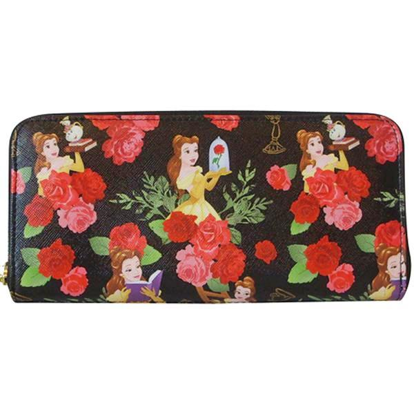 13ab3e4a3b2b Loungefly Disney Beauty and the Beast Princess Belle Floral Zip Around  Wallet - Belle Fleur Boutique