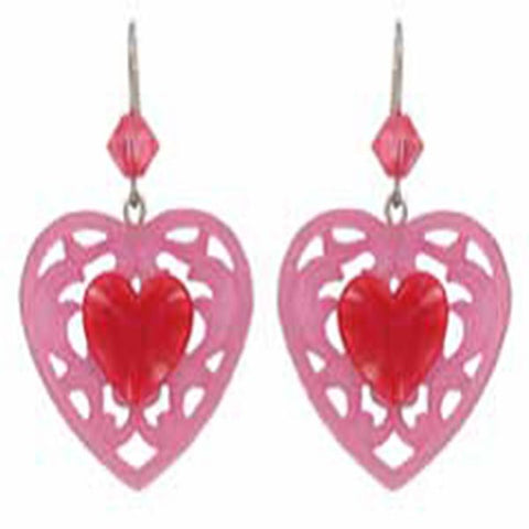 Tarina Tarantino Candy Cupid Pierced Earrings (Pink & Red) - Belle Fleur Boutique