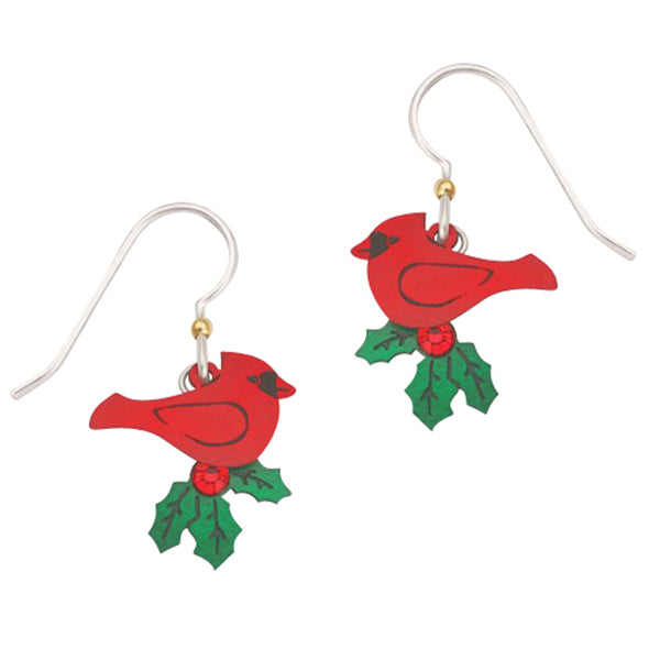 Sienna Sky Cardinal with Holly Holiday Pierced Earrings - Belle Fleur Boutique