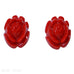 Tarina Tarantino Red Roses Carved Lucite Pierced Earrings - Belle Fleur Boutique