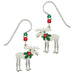 Sienna Sky Christmas Moose with Holly Pierced Earrings - Belle Fleur Boutique