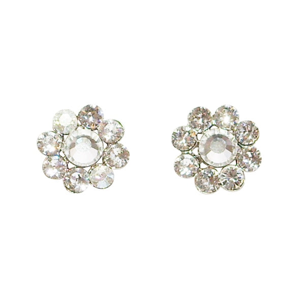 Tarina Tarantino Classic Flower Post Earrings (Crystal Galaxy) - Belle Fleur Boutique