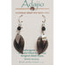 Adajio Dangling Leaves in Black & Silver Pierced Earrings - Belle Fleur Boutique