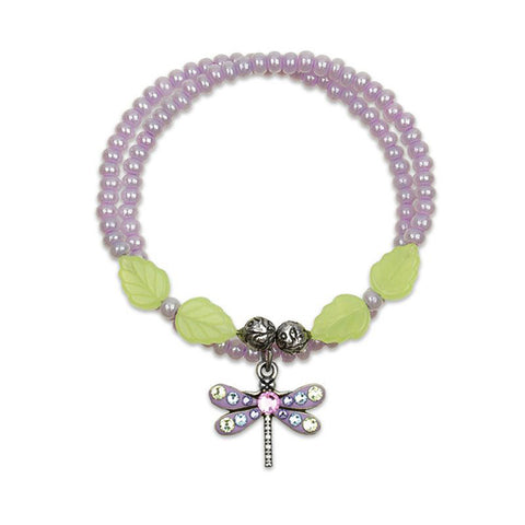 Anne Koplik Dragonfly Sky Charm Wrapsody Wrap-a-Round Bracelet in Lavender & Mint Green - Belle Fleur Boutique