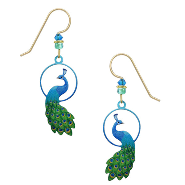 Sienna Sky Enchanted Peacock Pierced Earrings - Belle Fleur Boutique