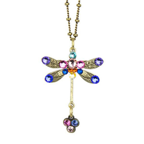 Anne Koplik Farrah Enchanted Dragonfly Pendant Necklace - Belle Fleur Boutique