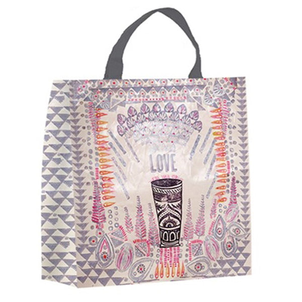PAPAYA! Art Love Fill Your Cup Market Shopper Shopping Bag - Belle Fleur Boutique