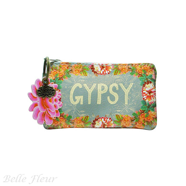 "PAPAYA! Art Gypsy Peach Coin Purse (5.5"" x 3.5"") - Belle Fleur Boutique"