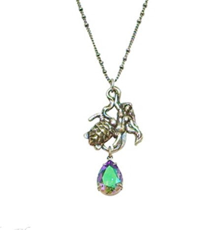 Kirks Folly Laila Mermaid & Sea Turtle Necklace - Belle Fleur Boutique