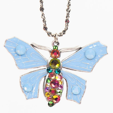 Anne Koplik Blue Butterfly Necklace - Belle Fleur Boutique