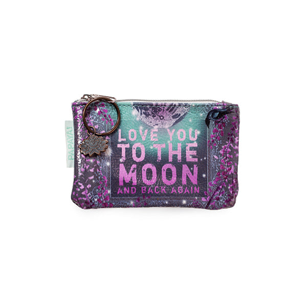 "PAPAYA! Art Moon and Back Again Coin Purse (5.5"" x 3.5"") - Belle Fleur Boutique"