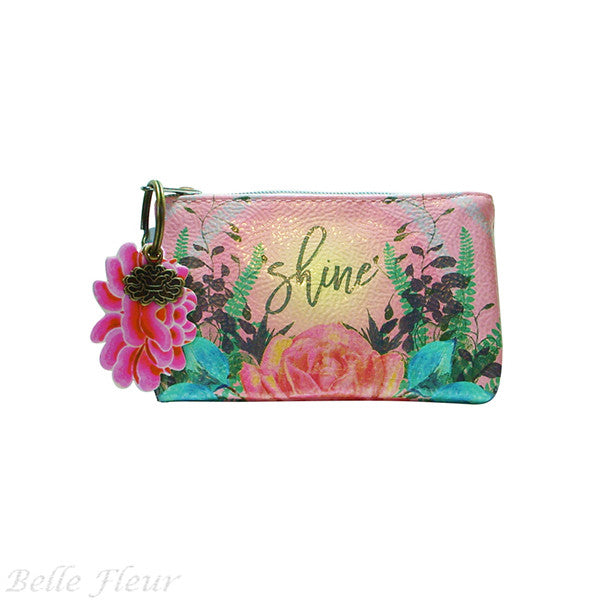 "PAPAYA! Art ""Natural Rose"" Coin Purse (5.5"" x 3.5"") - Belle Fleur Boutique"