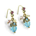 Sweet Romance Aqua Ocean Cluster Pierced Earrings ~Made in Los Angeles~ - Belle Fleur Boutique