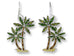 Zarah Palm Island Palm Tree Pierced Earrings - Belle Fleur Boutique