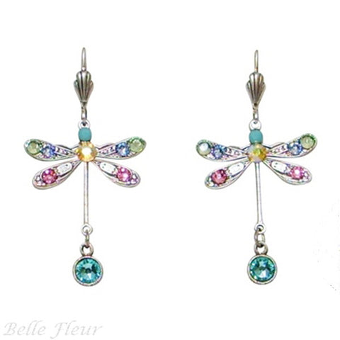Anne Koplik Pastel Dragonfly Leverback Earrings - Belle Fleur Boutique