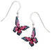 Sienna Sky Pink and Blue Fantasy Butterfly Pierced Earrings - Belle Fleur Boutique