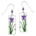 Sienna Sky Purple Iris Flower Pierced Earrings - Belle Fleur Boutique