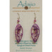 Adajio Radiant Orchid Magenta Leaf-Shape Filigree Pierced Earrings - Belle Fleur Boutique