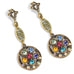 Sweet Romance Rainbow Flower Multi-Color Crystal Pierced Earrings - Belle Fleur Boutique