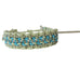 "Rose Gonzales ""Raquel"" Rodeo Collection Woven Bracelet in Summer Sand & Turquoise - Belle Fleur Boutique"