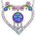 Kirks Folly Seaview Water Moon Lots of Love Necklace (Silvertone & Pink) - Belle Fleur Boutique