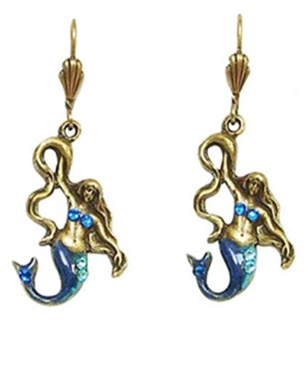 Anne Koplik Enchanted Mermaid Leverback Earrings - Belle Fleur Boutique