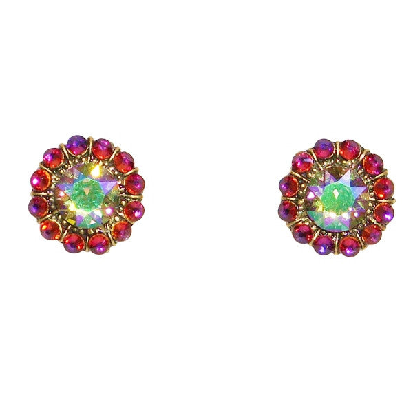 Anne Koplik Starburst Multi-Color Swarovski Crystal Post Earrings - Belle Fleur Boutique