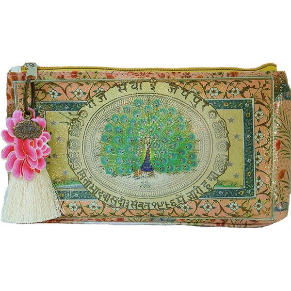 "PAPAYA! Art Starlet Accessory Pouch Clutch Makeup Bag (10"" x 5"") - Belle Fleur Boutique"