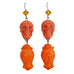 "Tarina Tarantino Sugar Skulls ""Rosebud"" Floral Drop Earrings (Orange) - Belle Fleur Boutique"
