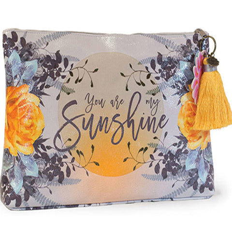 PAPAYA! Art Sunshine Large Tassel Accessory Pouch Purse - Belle Fleur Boutique