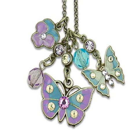 Anne Koplik Take Flight Butterflies & Flower Jumble Charm Necklace - Belle Fleur Boutique