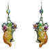 Kirks Folly Tiger Red Cat Leverback Earrings - Belle Fleur Boutique