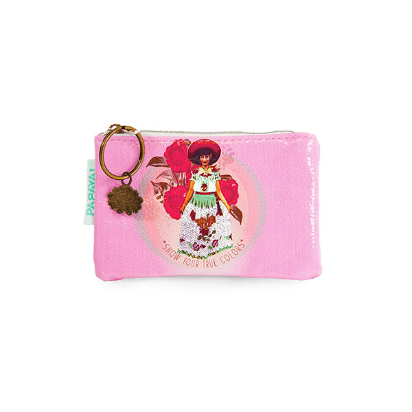 "PAPAYA! Art True Colors Coin Purse (5.5"" x 3.5"") - Belle Fleur Boutique"