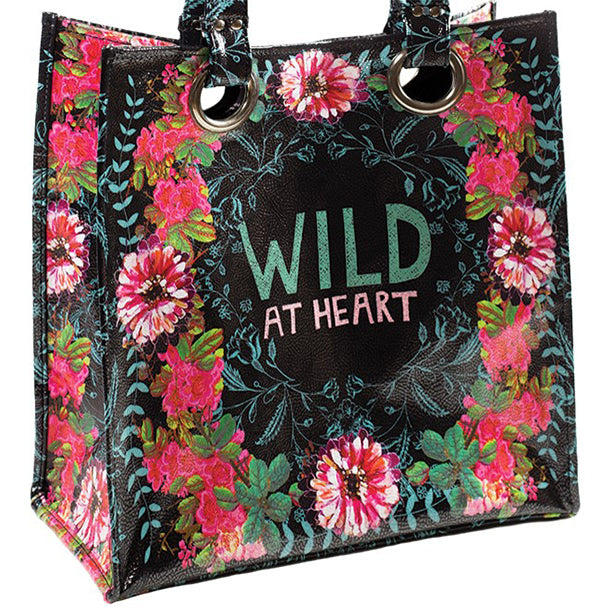 "PAPAYA! Art Gypsy Rose ""Wild at Heart"" Large Luxe Tote (14"" x 15"") - Belle Fleur Boutique"