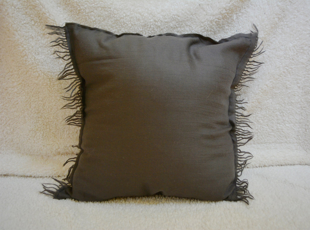 Taupe Throw Pillow