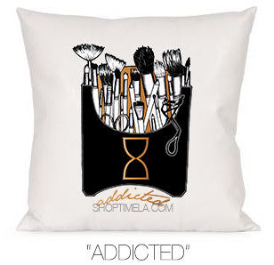 ADDICTED DECORATIVE PILLOW