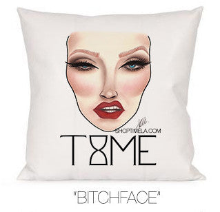 BITCHFACE DECORATIVE PILLOW